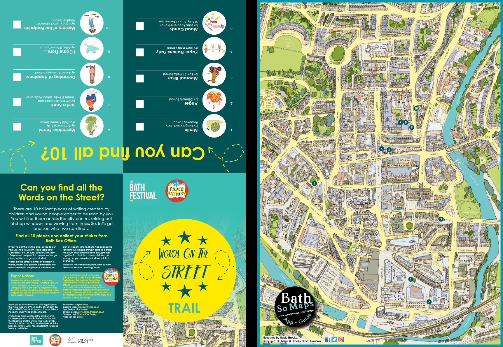 Bath Festival: Words on the Street Trail Map